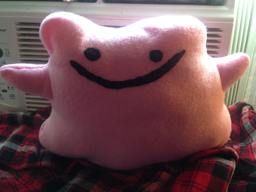 Pokemon Ditto Pillow Plush - Trade with hetaliayo