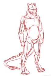 Sketch - A quick sketch contemplating a new fursona.