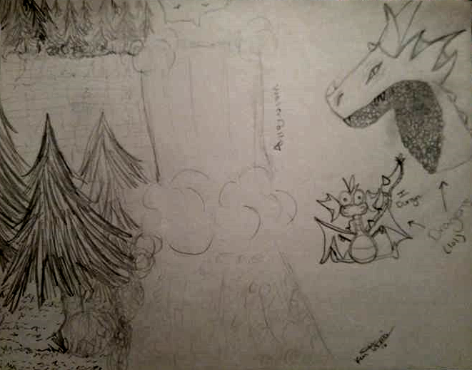 FB Suggestions 1 & 2 - Waterfall and Dragons