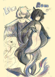 Lem and Rom colorpencil