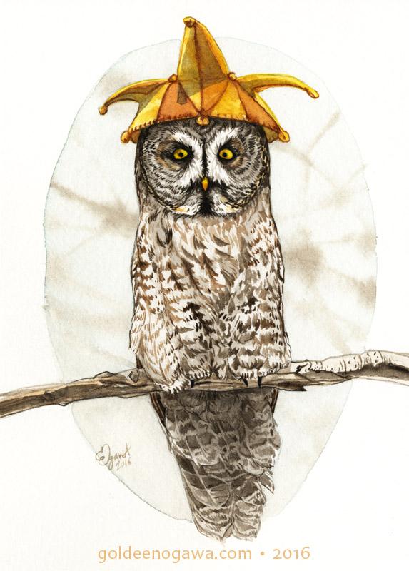 Strange Gray Owl