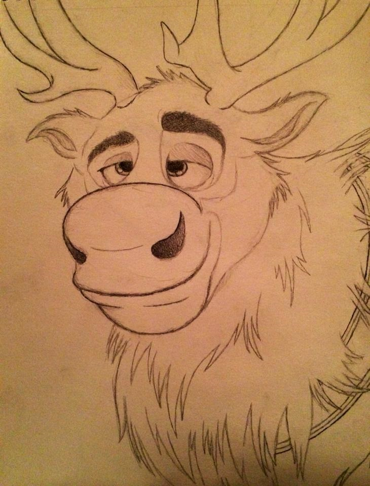 disney frozen sven drawing - photo #35