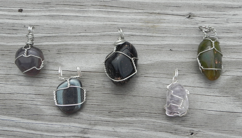 Wire wrapped gemstones