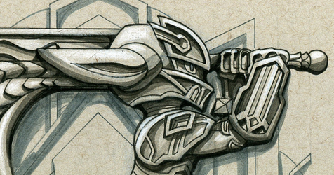 Inktober #15: Commemorating a Shocktrooper