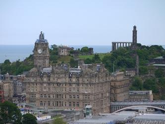 National Monument and the Nelson Monument, Edinburgh