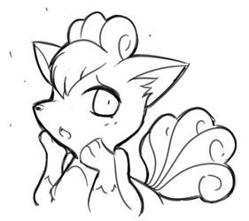 Embarrassed Vulpix