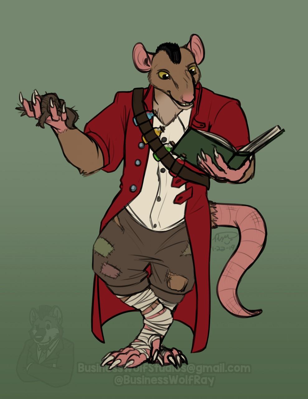 Rat-Folk Alchemist [Commission]