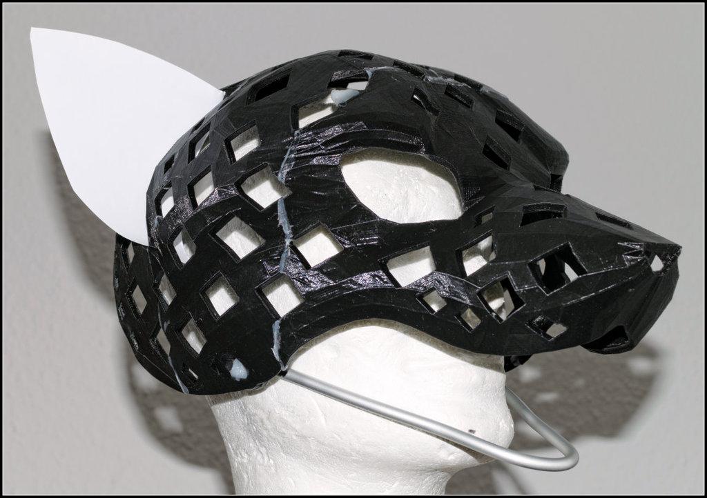 3d-printed fursuit head-base v28 - Wau