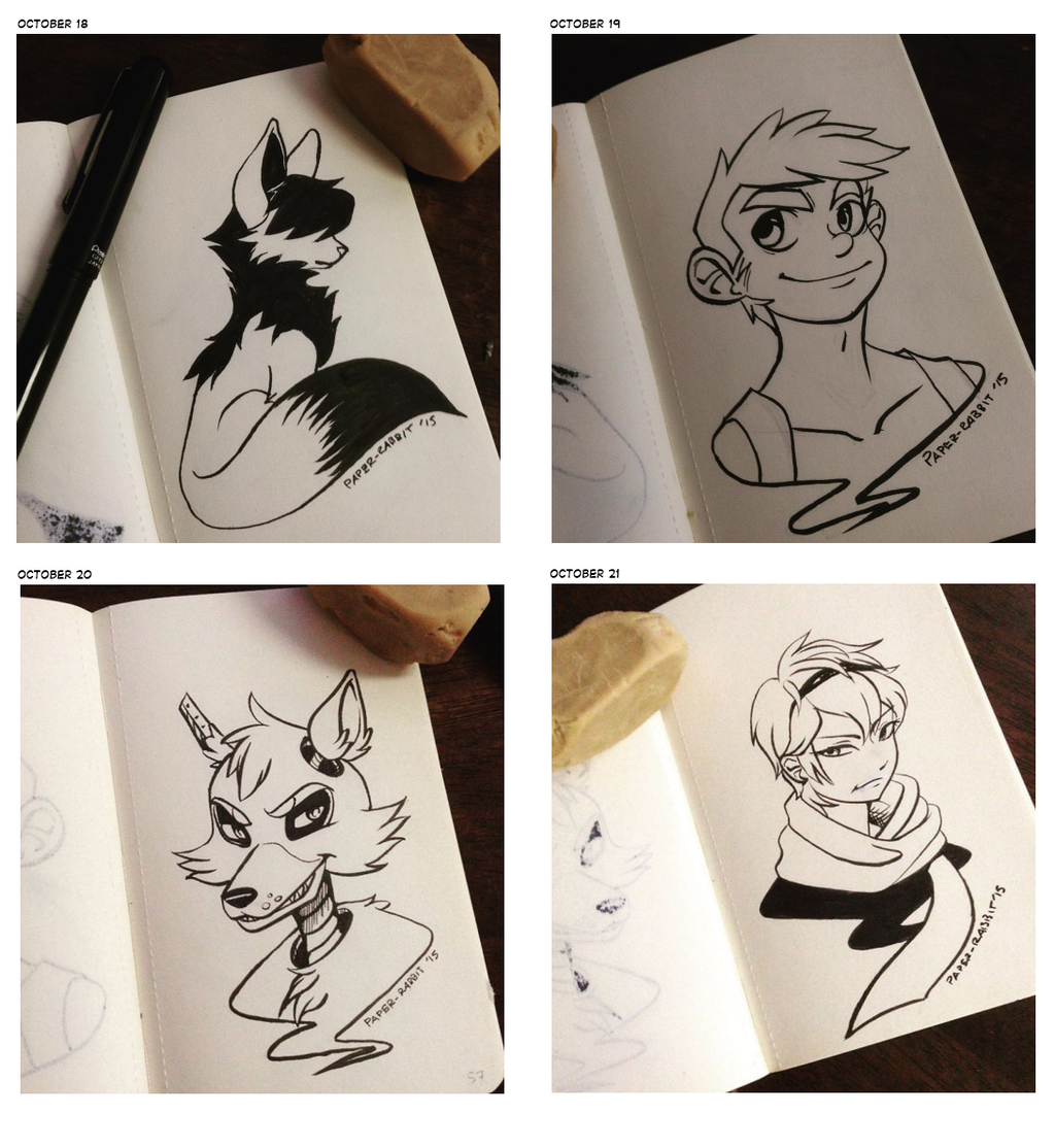 (Inktober 2015) 18th to 21st