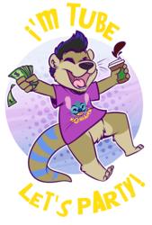[commission] Custom T-Shirt - I'm Tube, Let's Party!