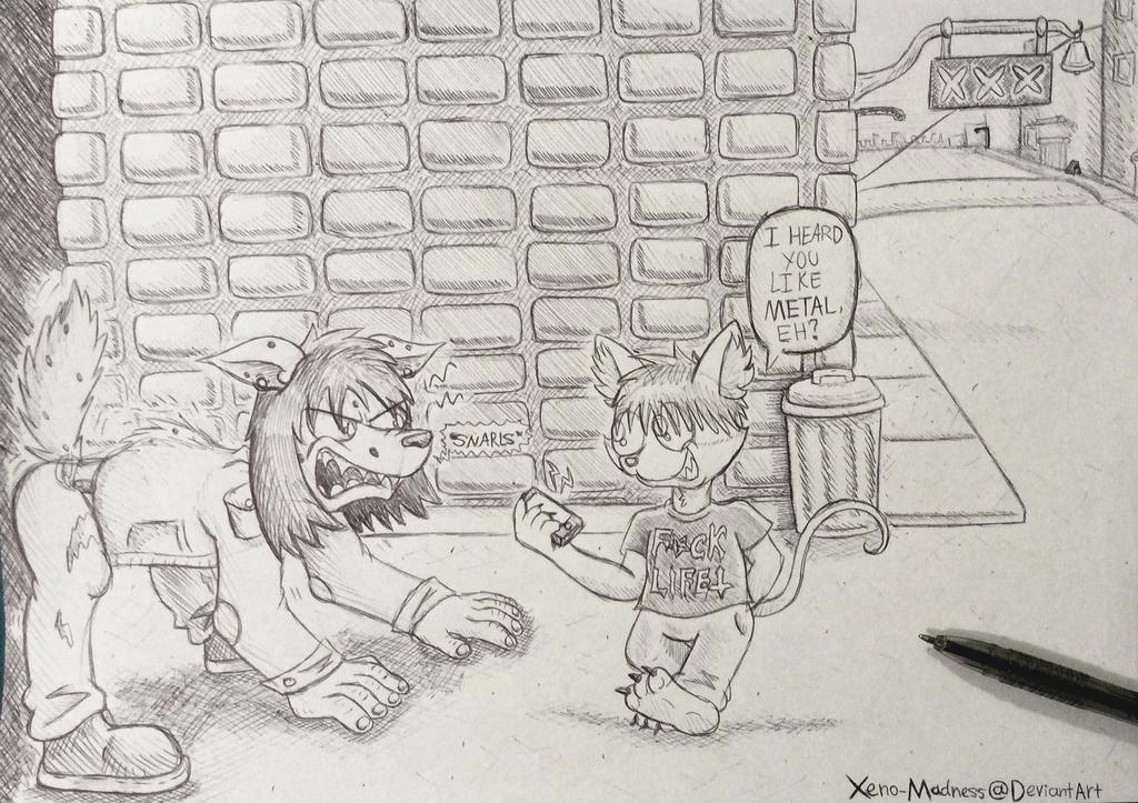 Cat's medicine for Beast (sketch)