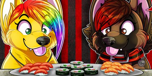 Sunshine and Fang Sushi Food Icons