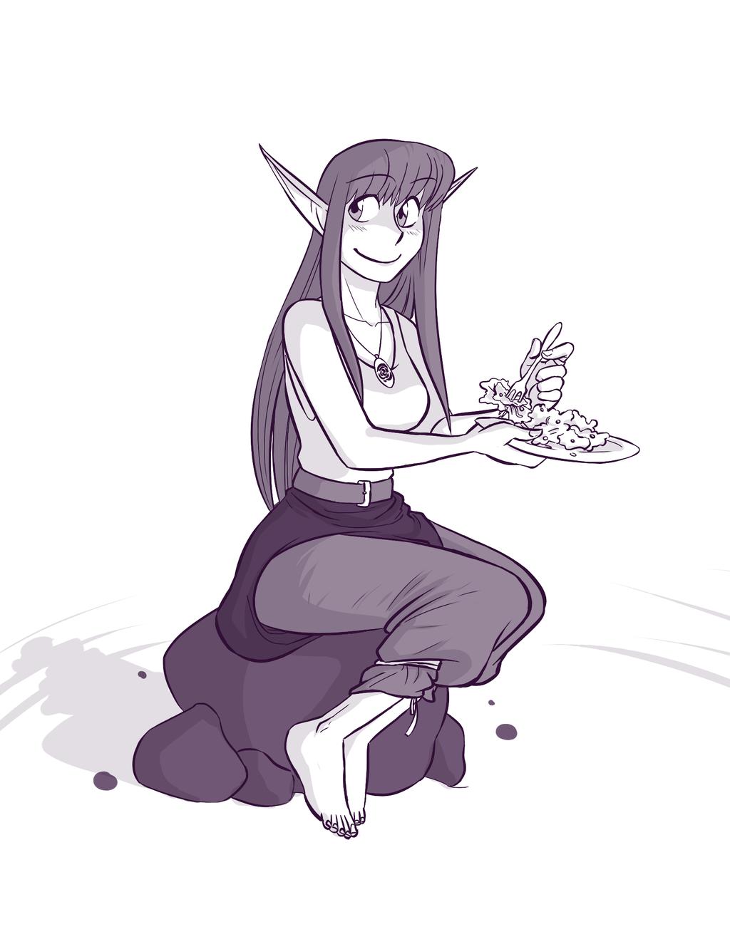 Dahlia Eats a Salad