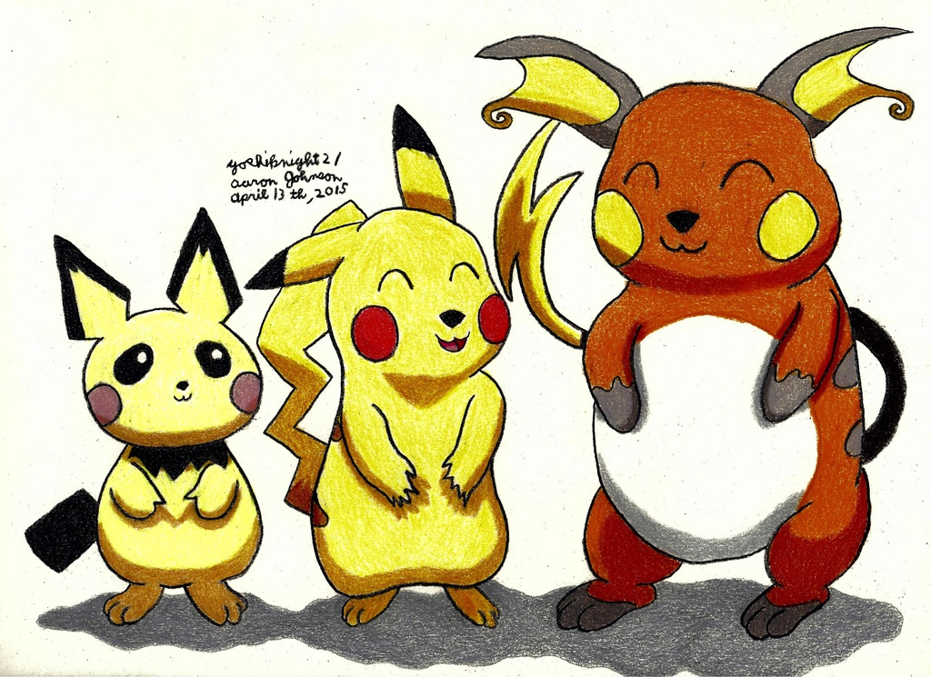 Pichu Pikachu And Raichu Pokemon