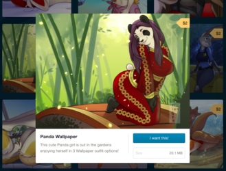 Wallpaper: Panda Girl