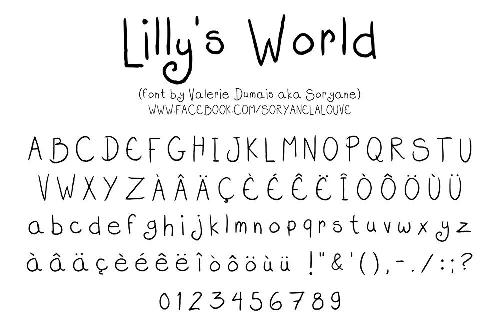 Lilly's World - Font