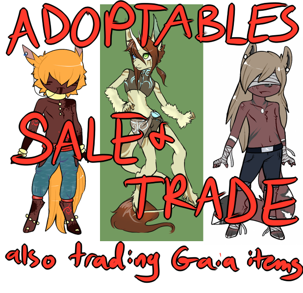 Adopts/Gaia Items for Sale and Trade