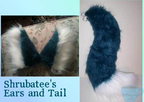 Shrubatee's ears and tail