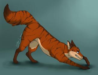 Fox Butt - Art by Korbin