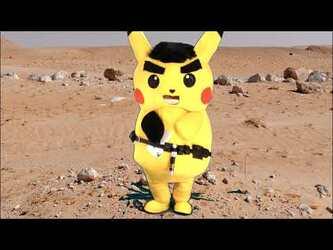 Mascot Fursuiting: Obi-Scorbunny vs General Ace Spade the Pikachu