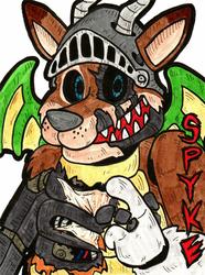 Spyke Half Body Badge - 5NAF