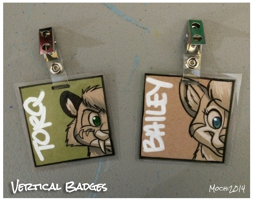 $15 Vertical Badges