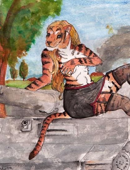Hedi Colour Sketch