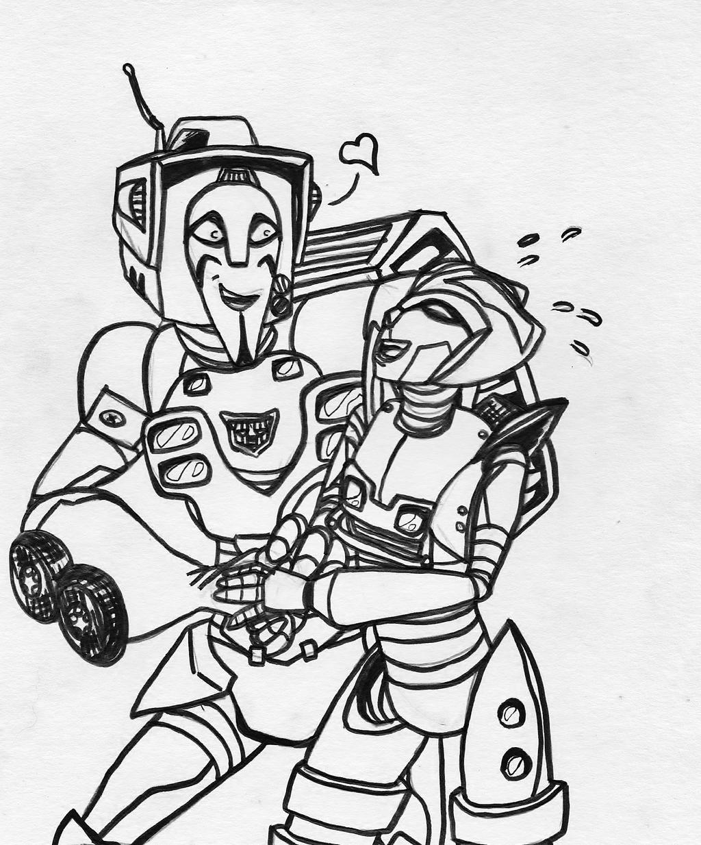 Cute Dating Robot Kids