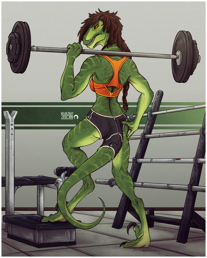 // hit the gym