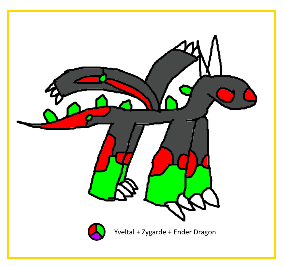 Yveltal Zygarde Ender Dragon Fusion