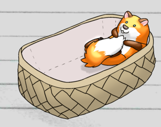 BeanFox in a basket :3