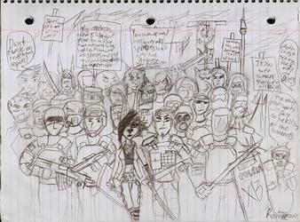 Human rebels and revolutionists