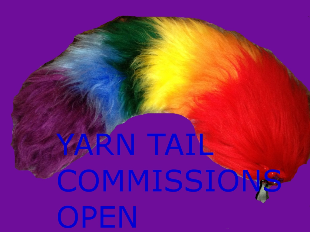 Most recent image: yarn tail commissions open