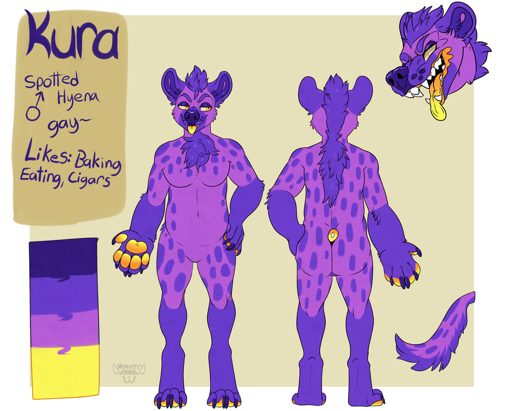 Most recent image: Purple 'Yena Refsheet by MonsterDrool