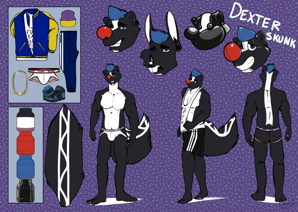 Dexter skunk reference sheet