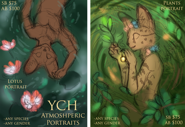 YCH Atmospheric Portraits (NEW, new format too)