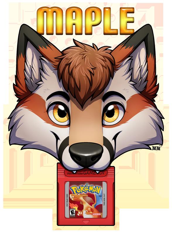 Maple Fox Chomp Badge