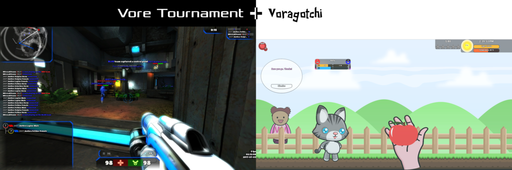 Most recent image: Vore Tournament & Voragotchi - September 2017 update