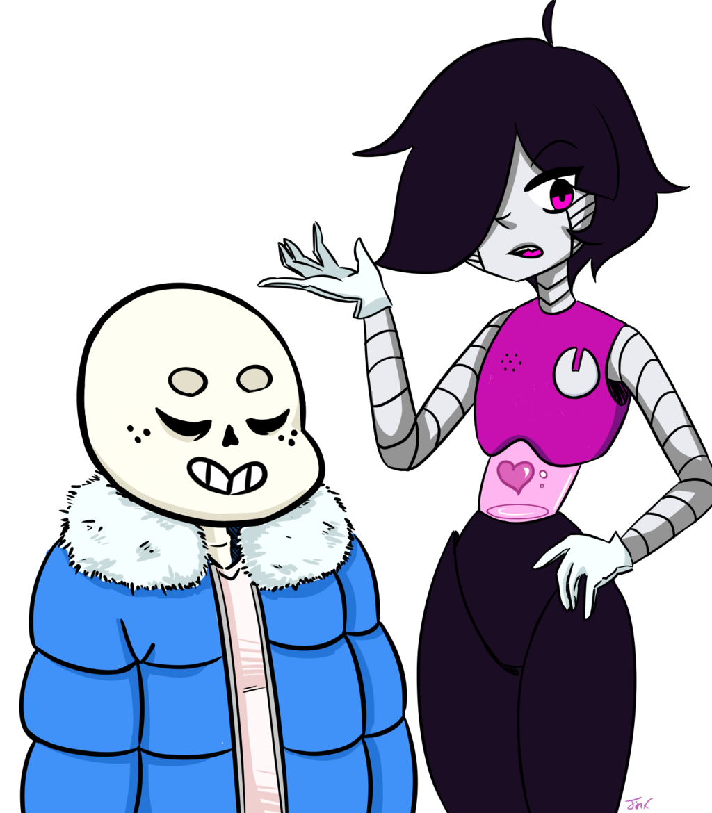 Most recent image: Sans and Mettaton