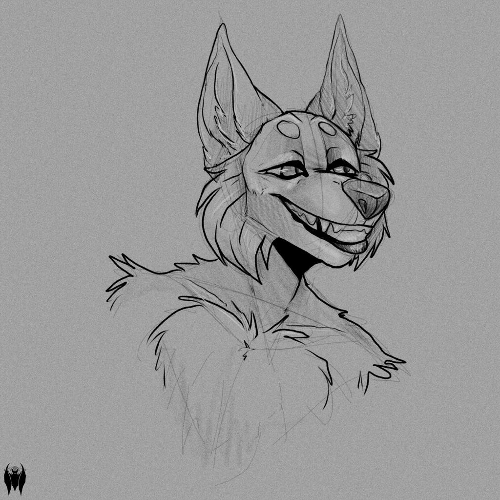 AlphaSempaiWolvieSyxx Sketch 1/4