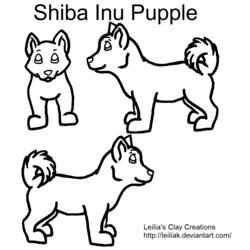 Shiba Inu Pupple Contest Lineart