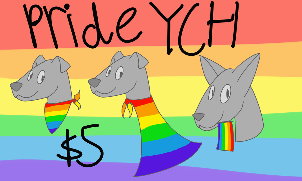 Most recent image: pride flag ych