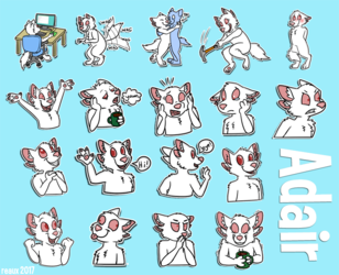 Adair stickers