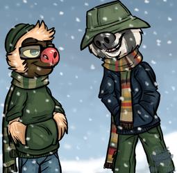 Sloth Bros in Warm Clothes