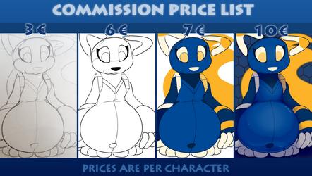 Commission price list