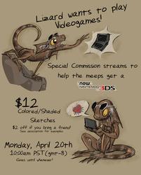 Livestream Commissions April 20th @10am!