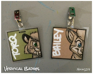 $15 Vertical Badges
