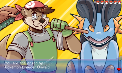[commission] Pokemon Challenger: Oswald