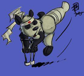 Crutch-fu Panda!