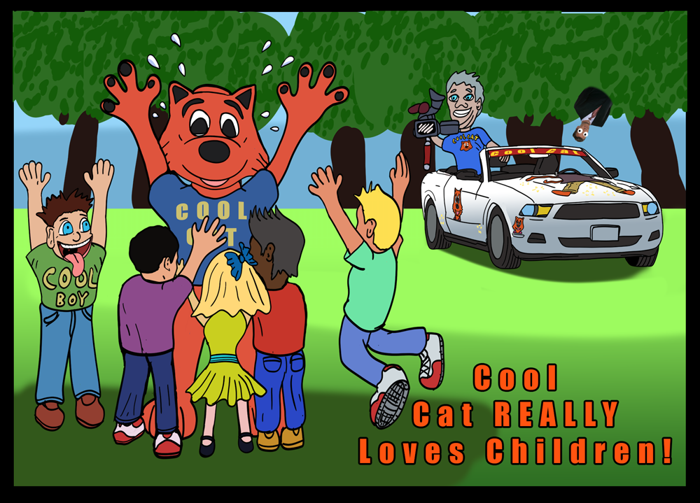 Cool Cat Really Loves the Children VIDEO